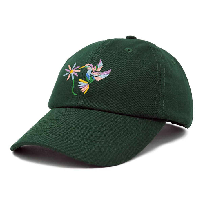 DALIX Pastel Hummingbird Hat Womens Embroidered Baseball Cap