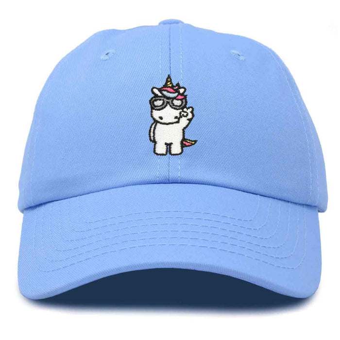 DALIX Cool Peaceful Unicorn Hat Embroidered Baseball Cap Womens