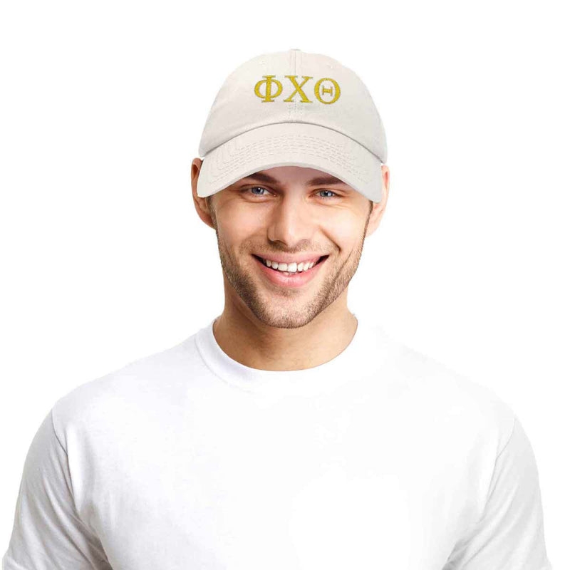 DALIX Phi Chi Theta Greek Letters Ball Cap Embroidered Hat
