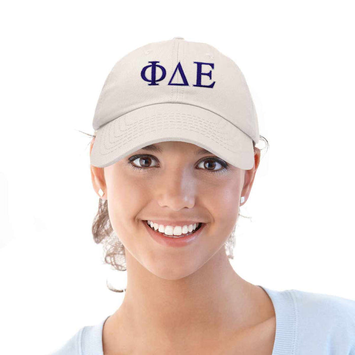 DALIX Phi Delta Epsilon Greek Letters Ball Cap Embroidered Fraternity Hat