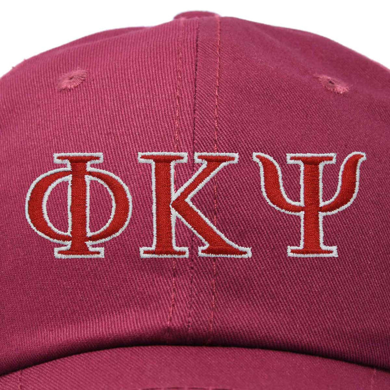DALIX Phi Kappa Psi Greek Letters Ball Cap Embroidered Hat