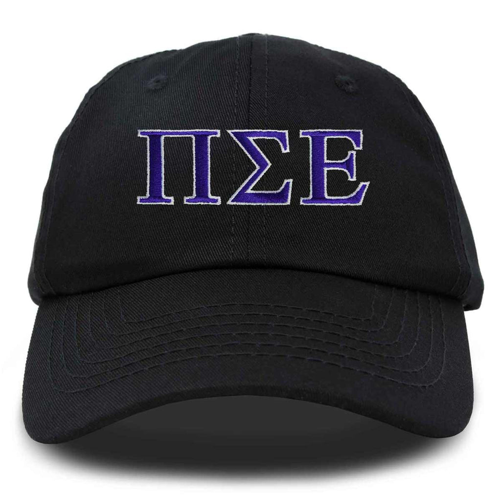 DALIX Pi Sigma Epsilon Greek Letters Ball Cap Embroidered Hat
