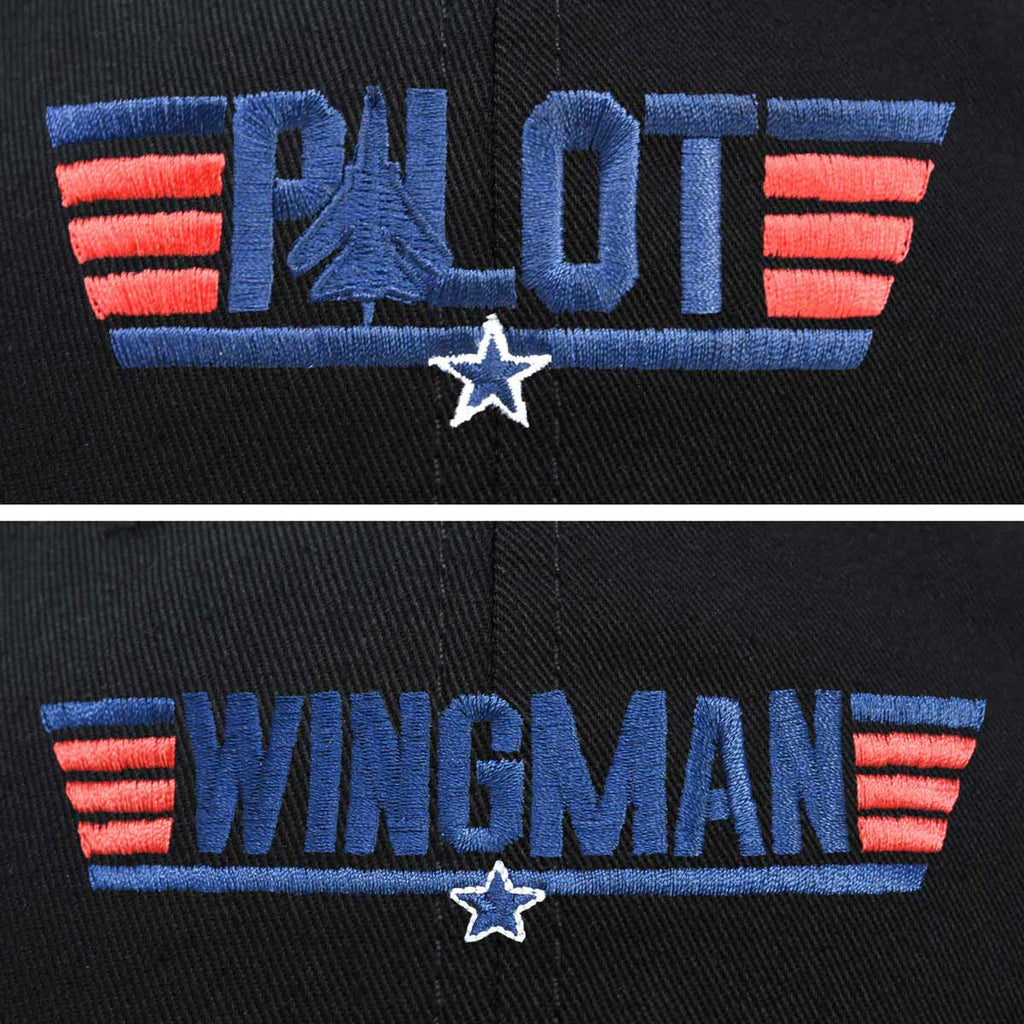 DALIX Father Son Pilot and Wingman Matching Hat Set Embroidered Baseball Cap