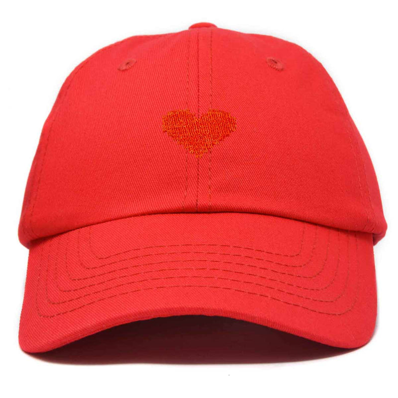 DALIX Pixel Heart Hat Womens Dad Hats Cotton Caps Embroidered Valentines