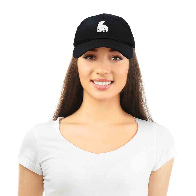 DALIX Polar Bear Embroidery Dad Hat Baseball Cap Mens Womens