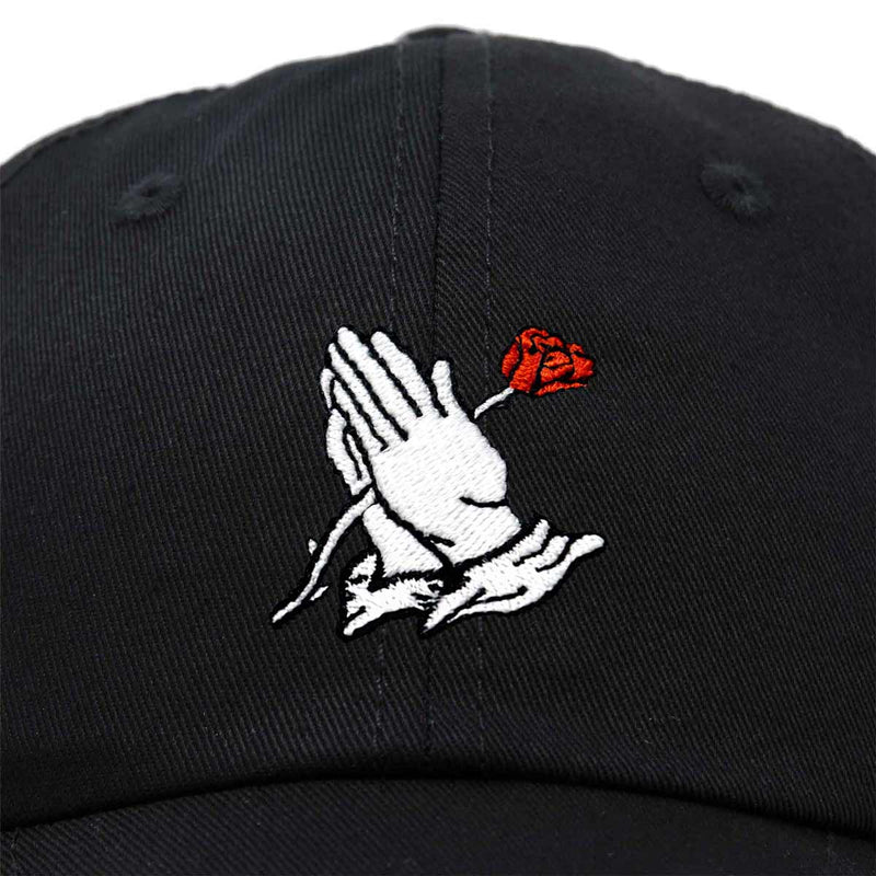 DALIX Prayer Hands Hat Baseball Cap Rose Dad Hats