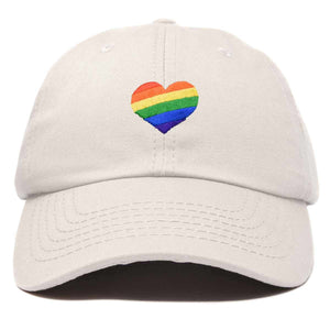 DALIX Rainbow Heart Hat Embroidered Mens Womens Baseball Cap