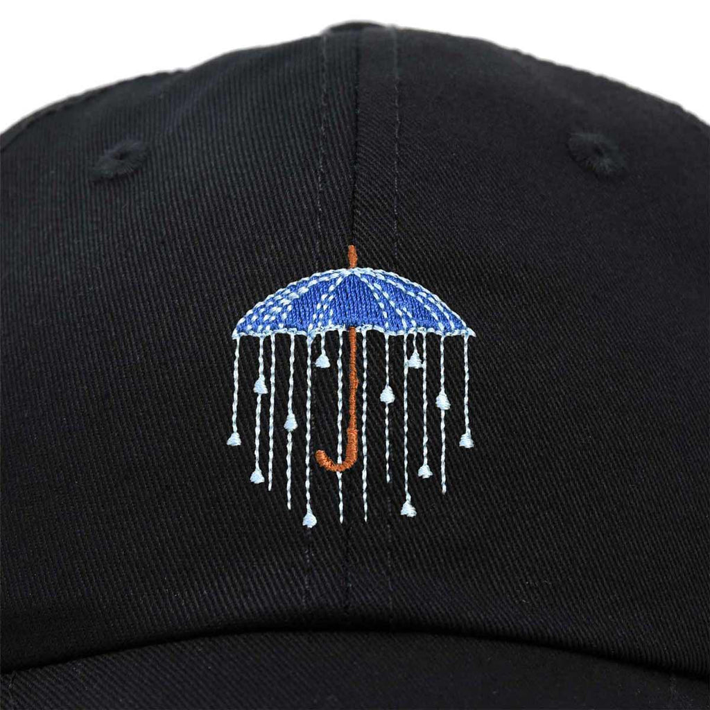 DALIX Rainy Day Umbrella Hat Womens Embroidered Baseball Cap