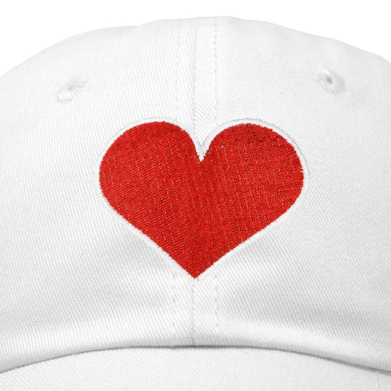 DALIX Big Heart Womens Hat Embroidered Baseball Cap