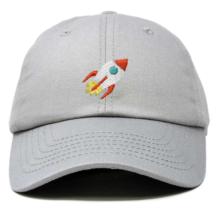 DALIX Rocket Hat Space Dad Caps Embroidered Custom Cap Cotton Hats