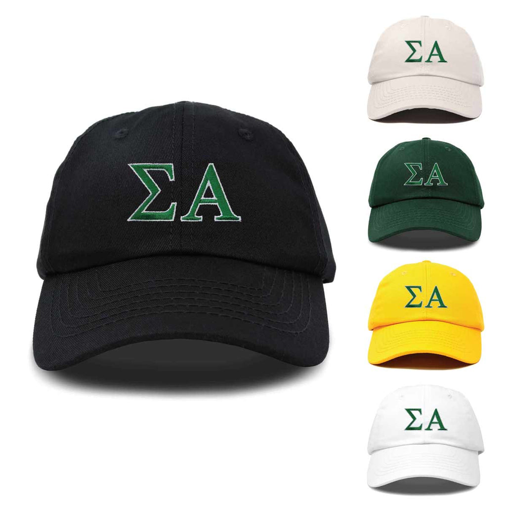 DALIX Sigma Alpha Greek Letters Hat Womens Embroidered Baseball Cap