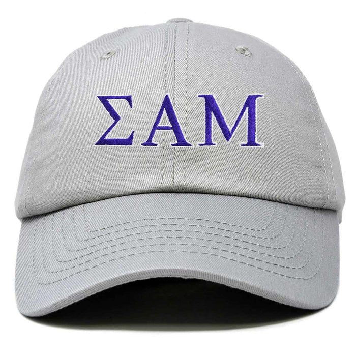 DALIX Sigma Alpha Mu Greek Letters Ball Cap Embroidered Fraternity Hat
