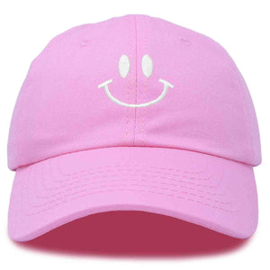 DALIX Smiley Face Baseball Cap Smiling Happy Dad Hat Men Women Teens