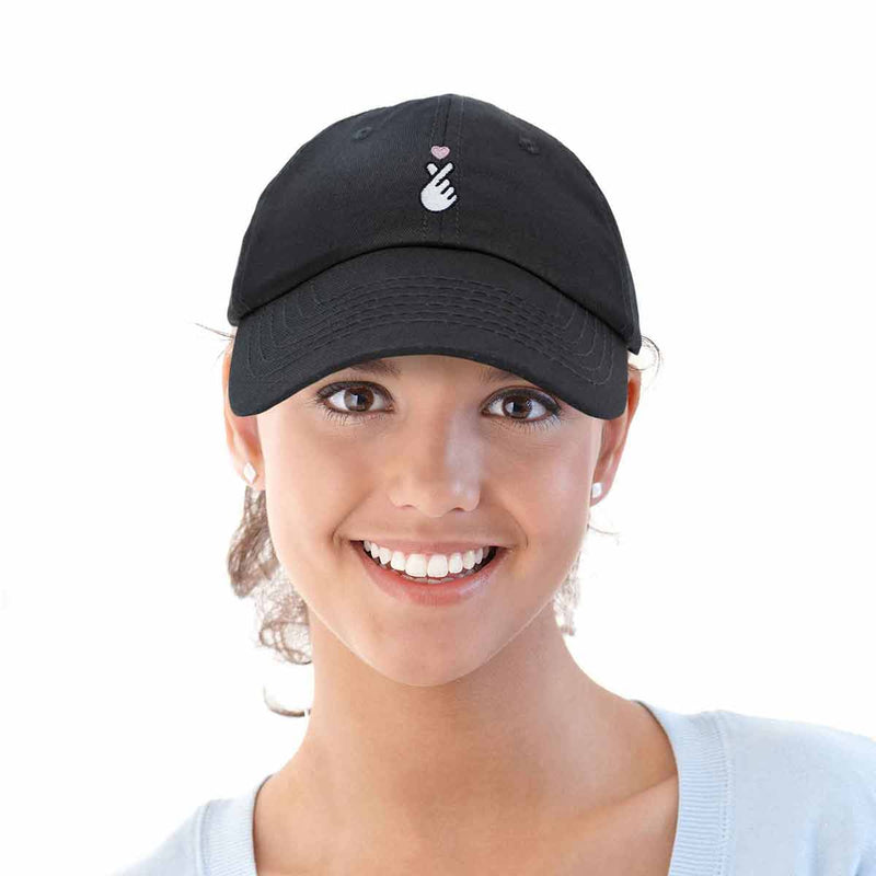 DALIX Love Finger Heart Hat Womens Embroidered Baseball Cap