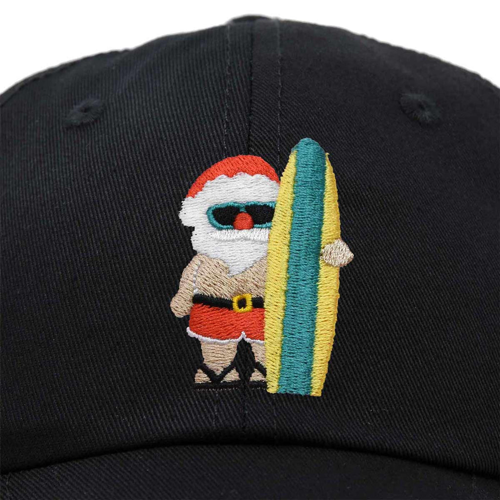 DALIX Christmas Surfing Santa Baseball Cap Embroidered Hat