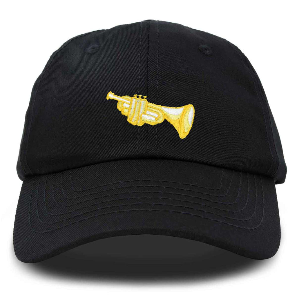 DALIX Brass Trumpet Ball Cap Embroidered Hat