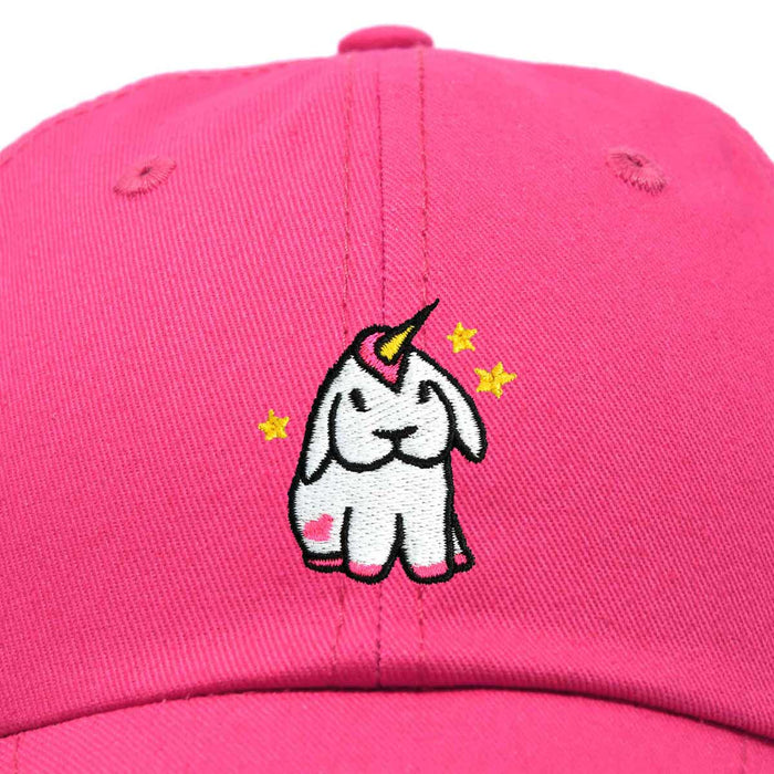 DALIX Adorable Unicorn Bunny Hat Womens Embroidered Baseball Cap