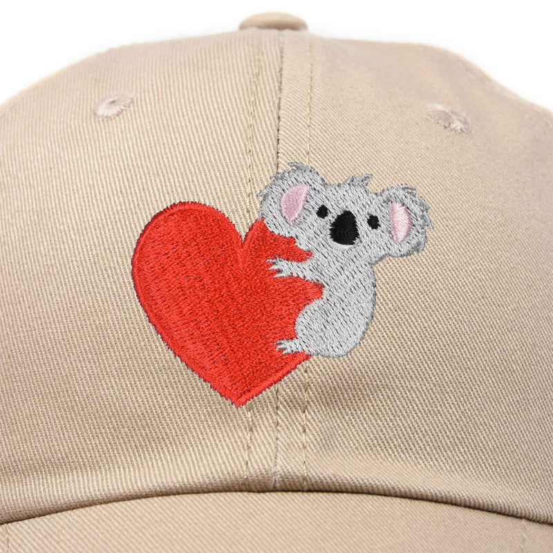DALIX Cute Koala with Heart Hat Womens Embroidered Baseball Cap