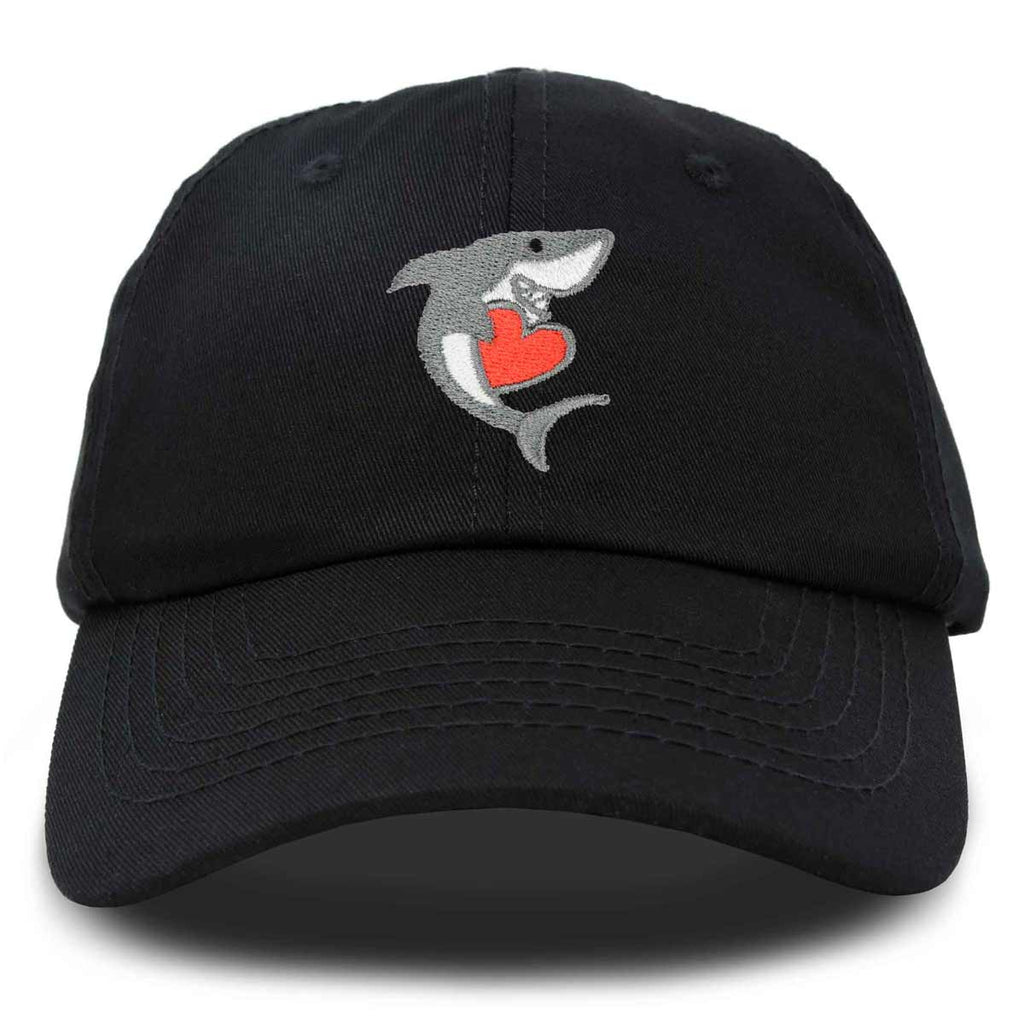 DALIX Shark with Heart Valentine's Day Hat Womens Embroidered Baseball Cap