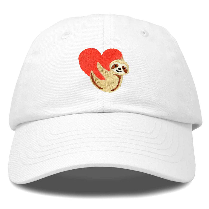DALIX Heart Cute Sloth Hat Womens Embroidered Baseball Cap