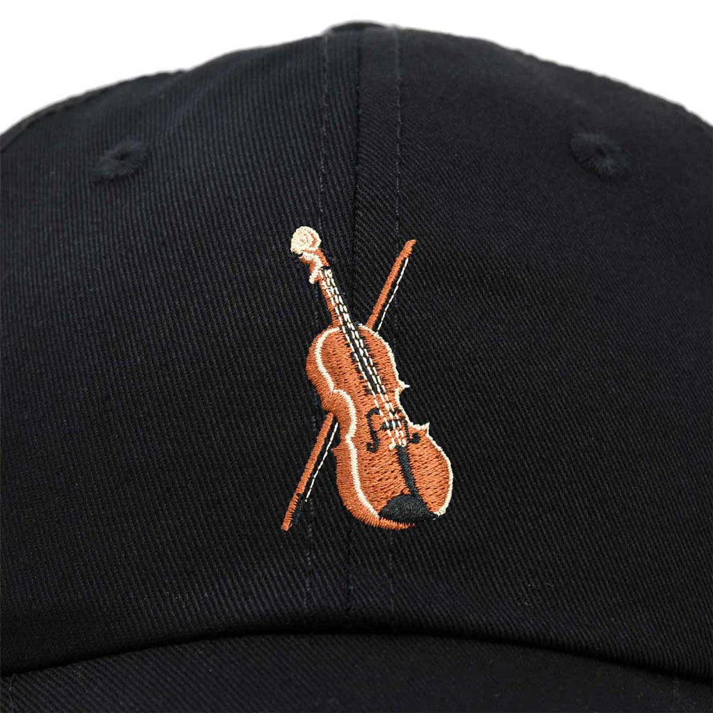 DALIX Orchestra Violin Hat Womens Embroidered Baseball Cap