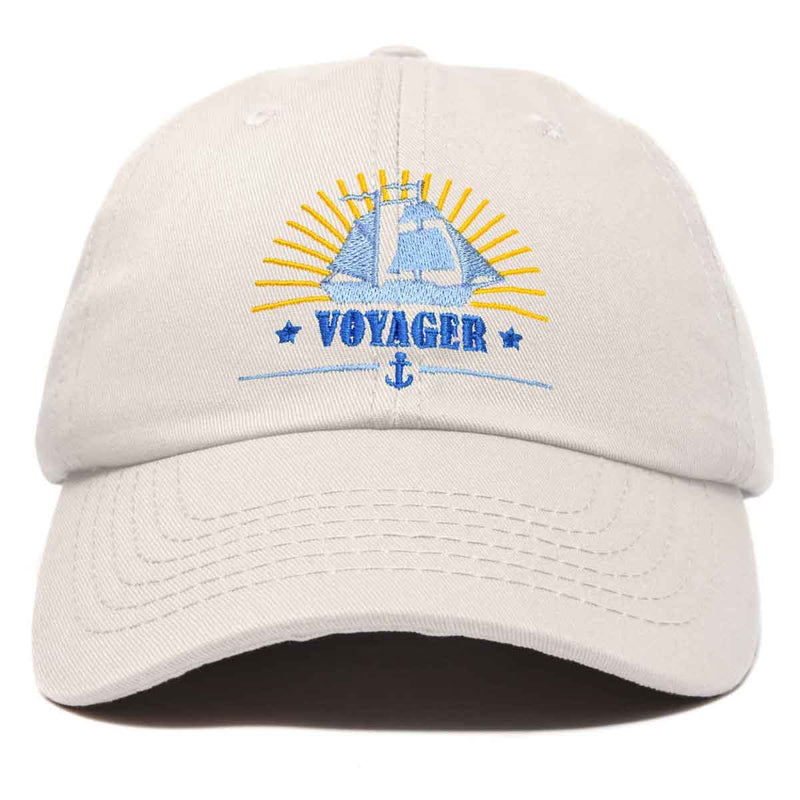 DALIX Voyager Hat Embroidered Vessel Baseball Cap Mens Womens