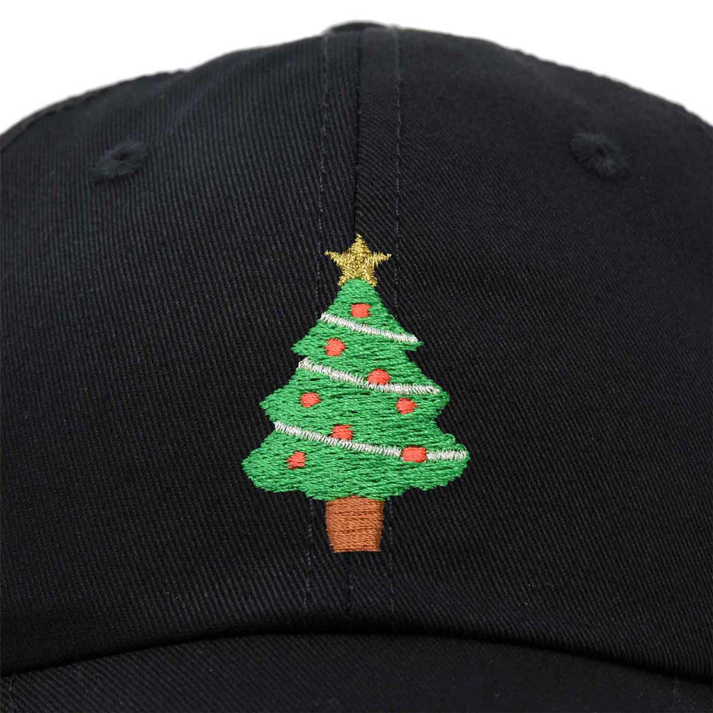DALIX Xmas Holidays Christmas Tree Ball Cap Embroidered Hat