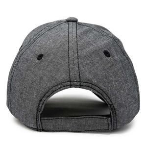 DALIX Chambray Cap Curved Bill 6 Panel Hat