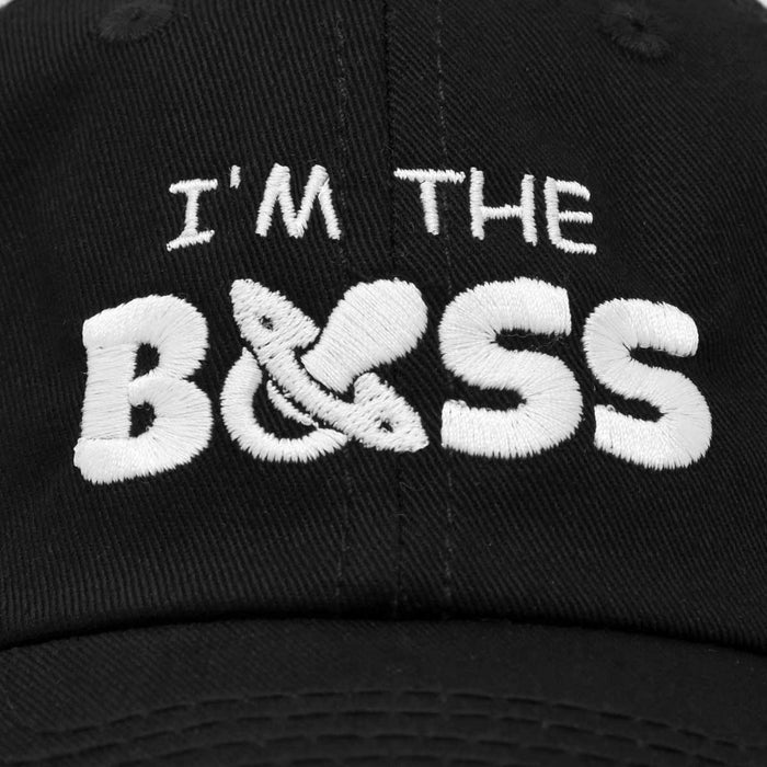 DALIX I'm The Boss Baby Hat Infant Baseball Cap for Baby Girls and Boys