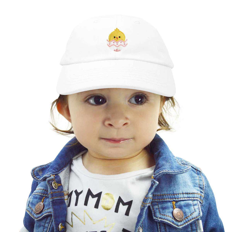 DALIX Cute Easter Chick Hat Infants Embroidered Baby Baseball Cap