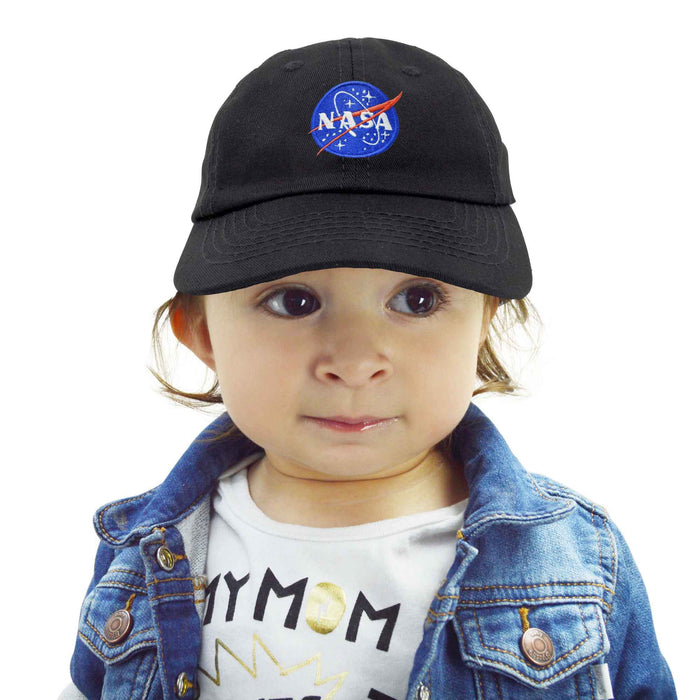 DALIX NASA Meatball Insignia Worm Logo Infant Hat Baseball Cap Girls Boys