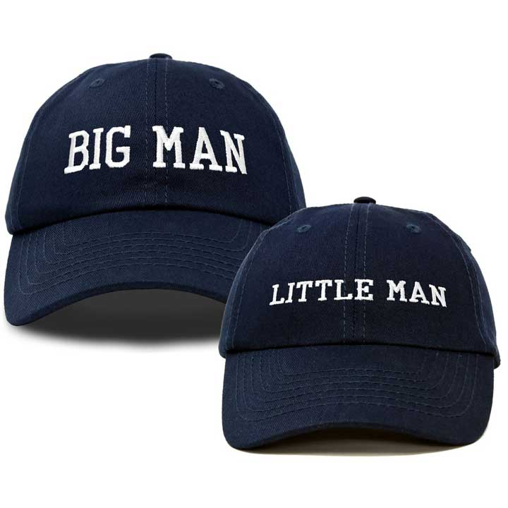 DALIX Big Man Little Man Hat Father Son Matching Cap Fun Gifts