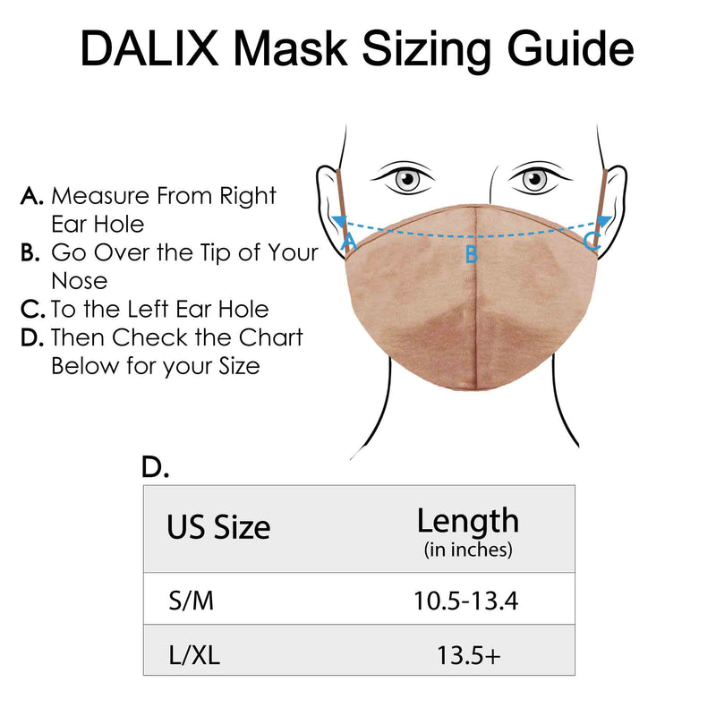 DALIX Skin Tone Cloth Face Mask 3 Layer Filter Pocket Nose Piece