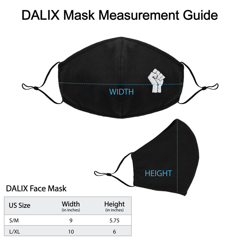 DALIX Embroidered BLM Fist Cloth Face Masks Reuseable Washable in Made in USA