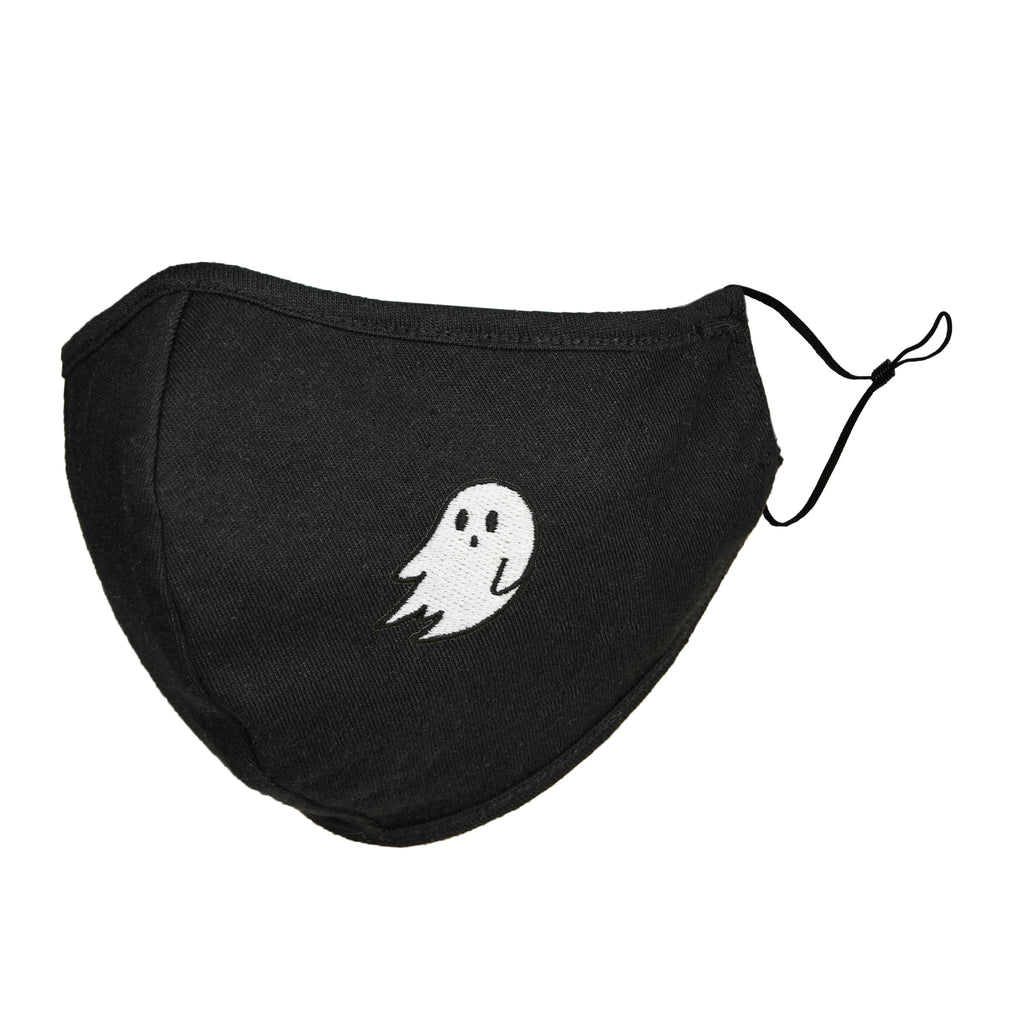 DALIX Kids Embroidered Ghost Cloth Face Masks Reuseable Washable Made in USA- XXS-XS