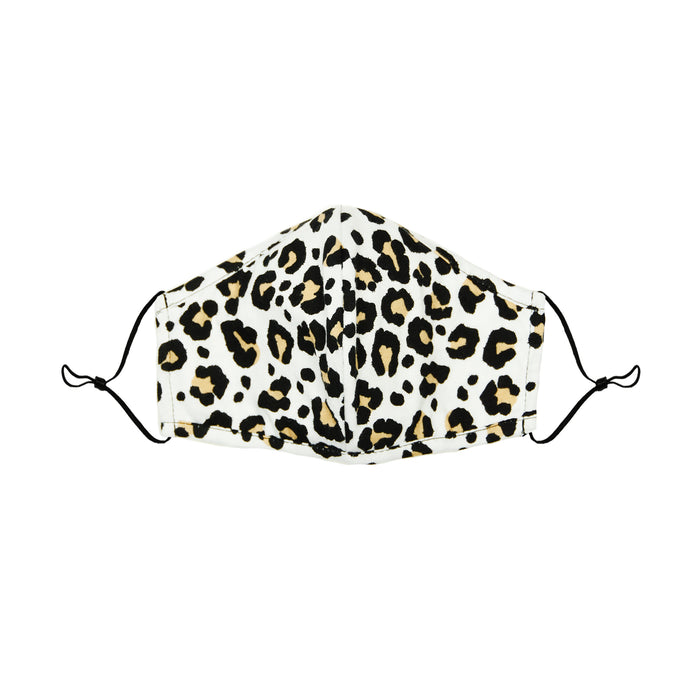 DALIX Youth Leopard Cloth Face Mask Reusable Washable Made in USA - XXS-XS Size