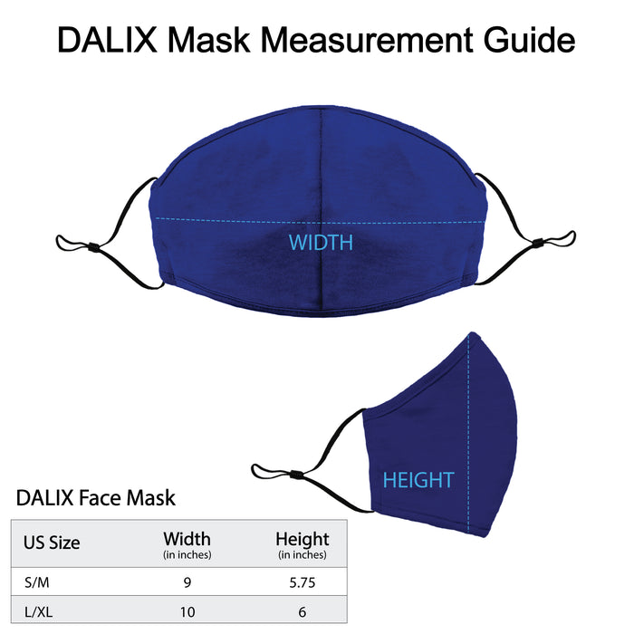 DALIX Cloth Face Mask Reuseable Washable Made in USA - S-M, L-XL Size (20 Pack)