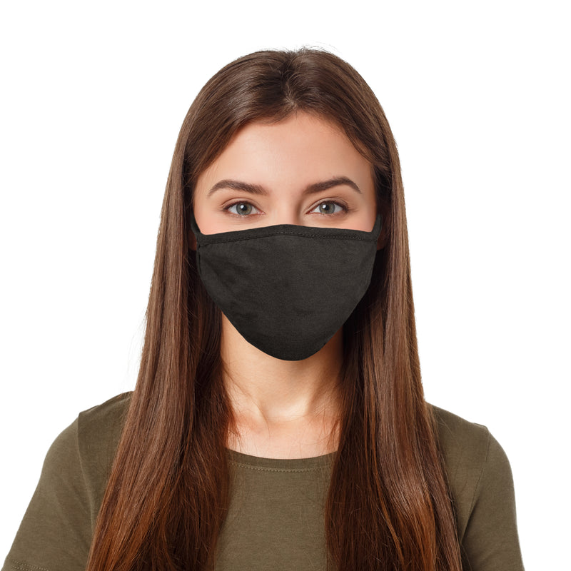 DALIX 10 Pack Premium Cotton Mask Reuseable Washable Made in USA (Black,White)