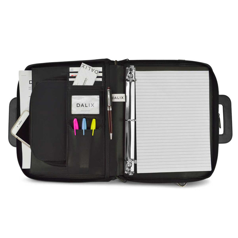 DALIX Professional Portfolio Briefcase in Black