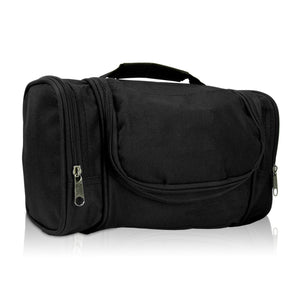 DALIX Hanging Travel Toiletry Kit Accessories Bag (8 Colors) Business DALIX Charcoal Black