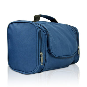 DALIX Hanging Travel Toiletry Kit Accessories Bag (8 Colors) Business DALIX Navy Blue
