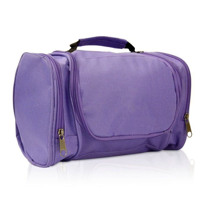 DALIX Hanging Travel Toiletry Kit Accessories Bag (8 Colors) Business DALIX Purple