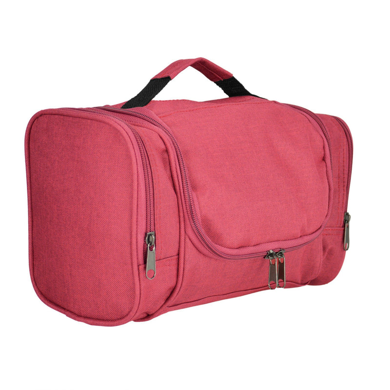 DALIX Hanging Travel Toiletry Kit Accessories Bag (8 Colors) Business DALIX Red