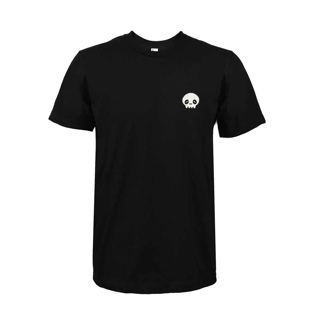 DALIX Little Skull Head T-Shirt Men's Embroidered Shirt