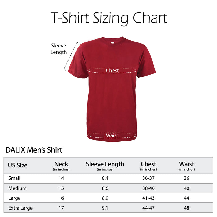 DALIX Mens Embroidered T-Shirt