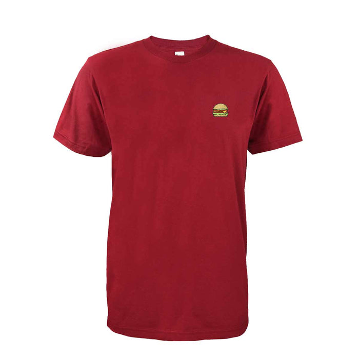 DALIX Delicious Hamburger T-Shirt Men's Embroidered Shirt