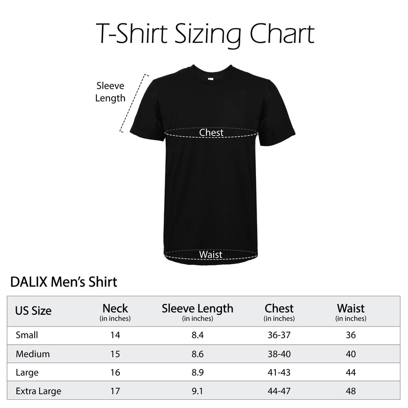 DALIX Christmas Urban Santa T-Shirt Men's Embroidered Shirt