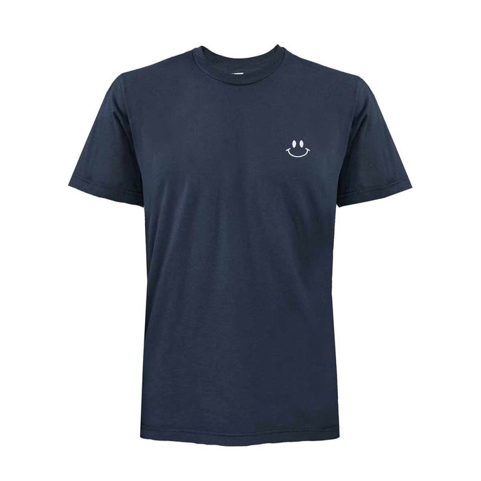 DALIX Happy Smile Face T-Shirt Men's Embroidered Shirt