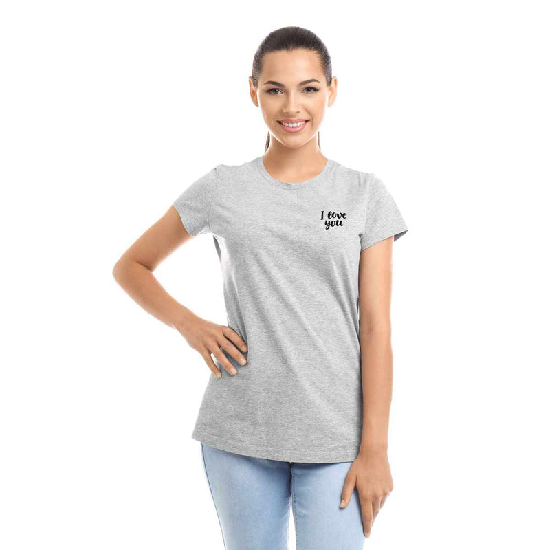 DALIX I Love You T-Shirt Women's Embroidered Shirt
