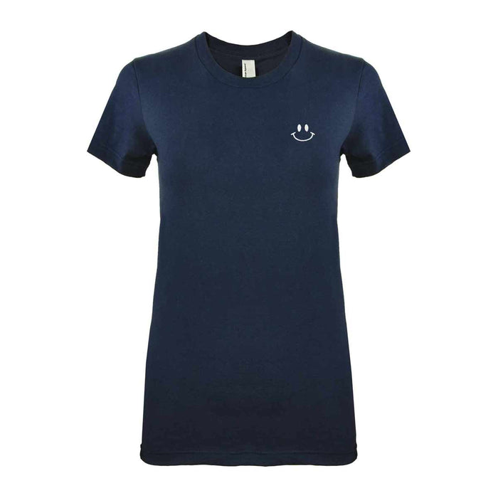 DALIX Happy Smiley Face T-Shirt Women's Embroidered Shirt